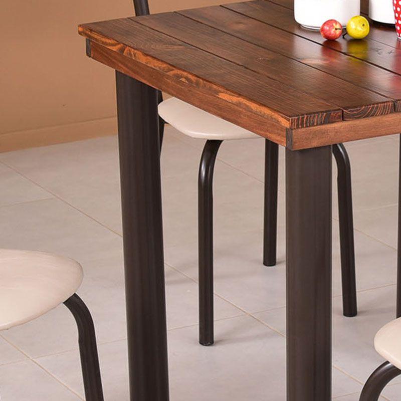 Conjunto para Sala de Jantar Ipê Mesa em Madeira 140 cm Café e 06 Cadeiras Modelo 551
