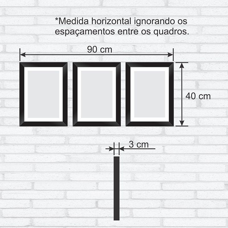 7b964352c ... Conjunto Quadros Decorativos com Moldura e Vidro Padrão Geométrico - Minha  Casa Merece