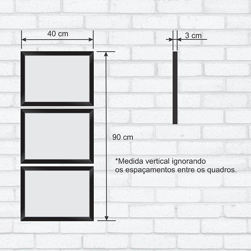 0a0f74c23a6431 ... Conjunto Quadros Decorativos com Moldura e Vidro Torre Eiffel C013 -  Minha Casa Merece ...