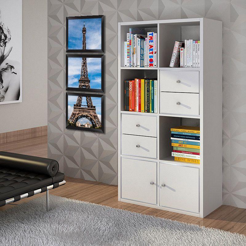 ffd397a758bb36 ... Conjunto Quadros Decorativos com Moldura e Vidro Torre Eiffel C013 -  Minha Casa Merece