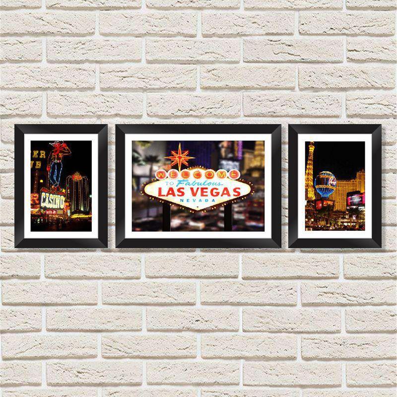 cea0ba56303f3d Conjunto Quadros Decorativos com Moldura e Vidro Vegas - Minha Casa Merece  ...