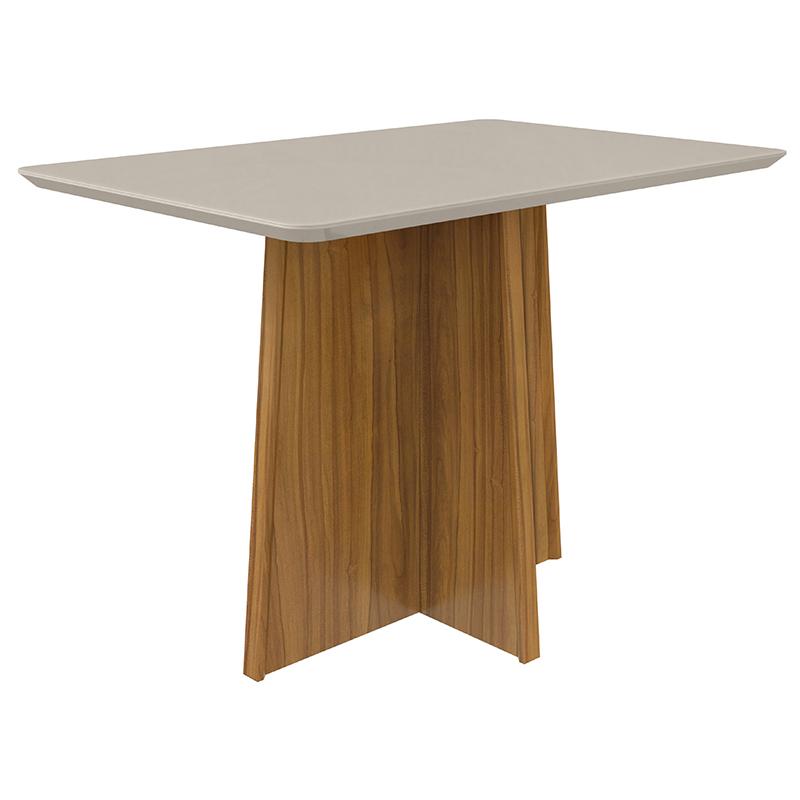 Conjunto Sala de Jantar Celebrare Mesa 120 cm e 04 Cadeiras Privilege Lopas