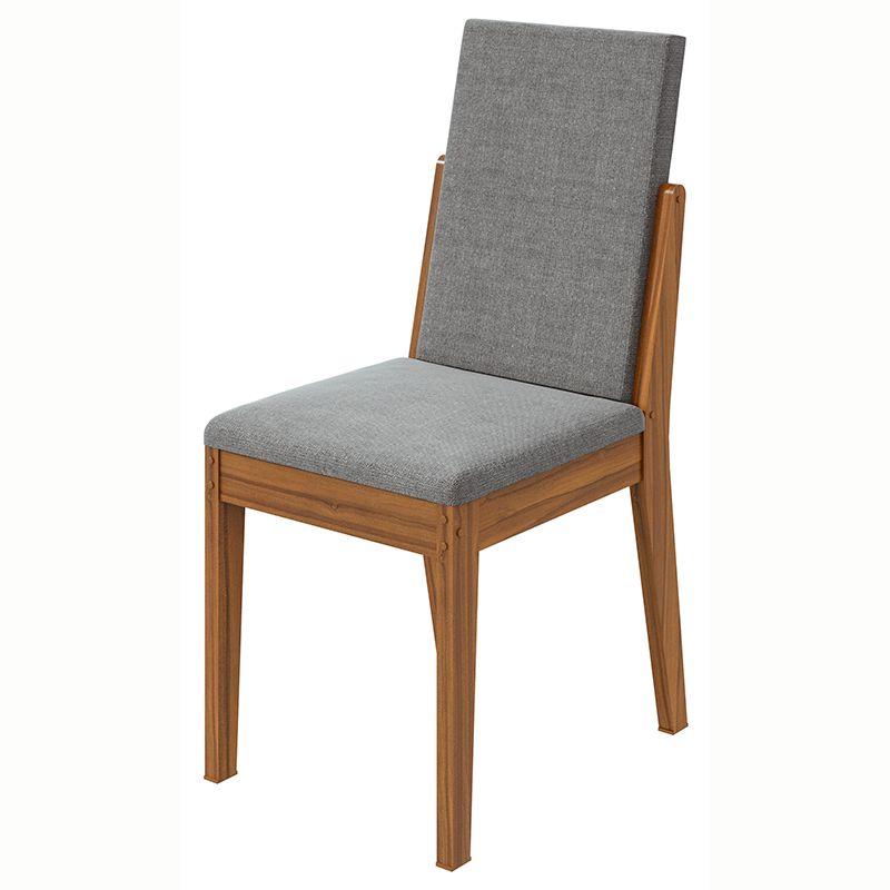 Conjunto Sala de Jantar Mesa Saara 120 cm Canto Copo 04 Cadeiras Lira Lopas