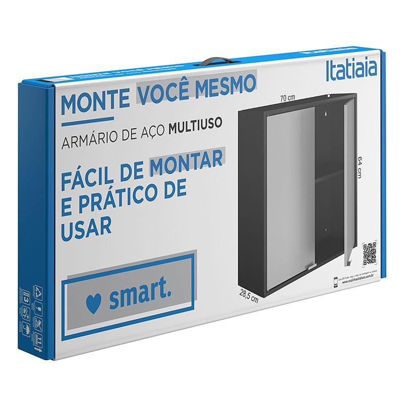 Conjunto 02 Armários Multiuso Smart 02 Portas Itatiaia
