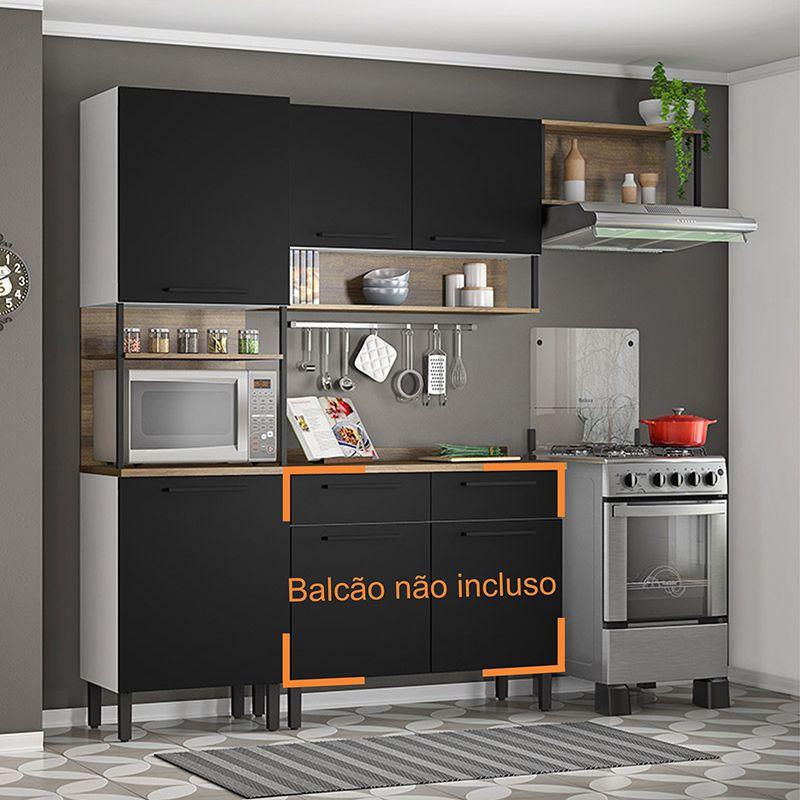 Cozinha 04 portas e Nichos Bali 03 peças Itatiaia