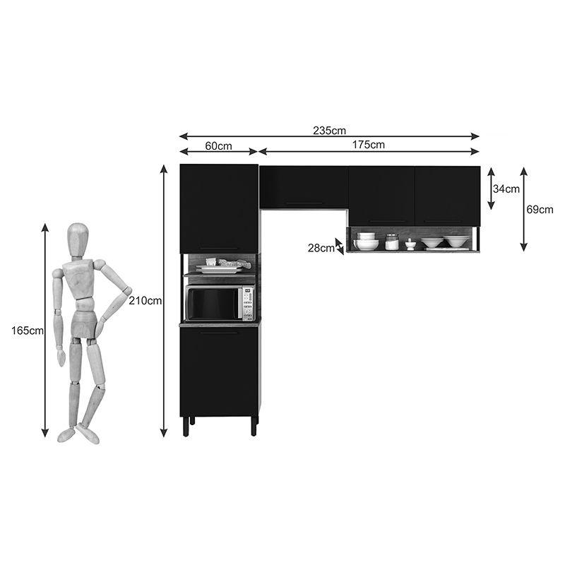 Cozinha 05 portas e Nichos Bali Itatiaia