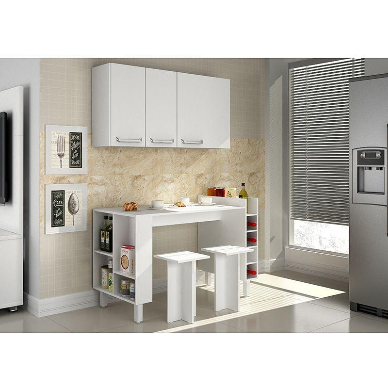 Cozinha compacta com mesa e bancos Decari 10