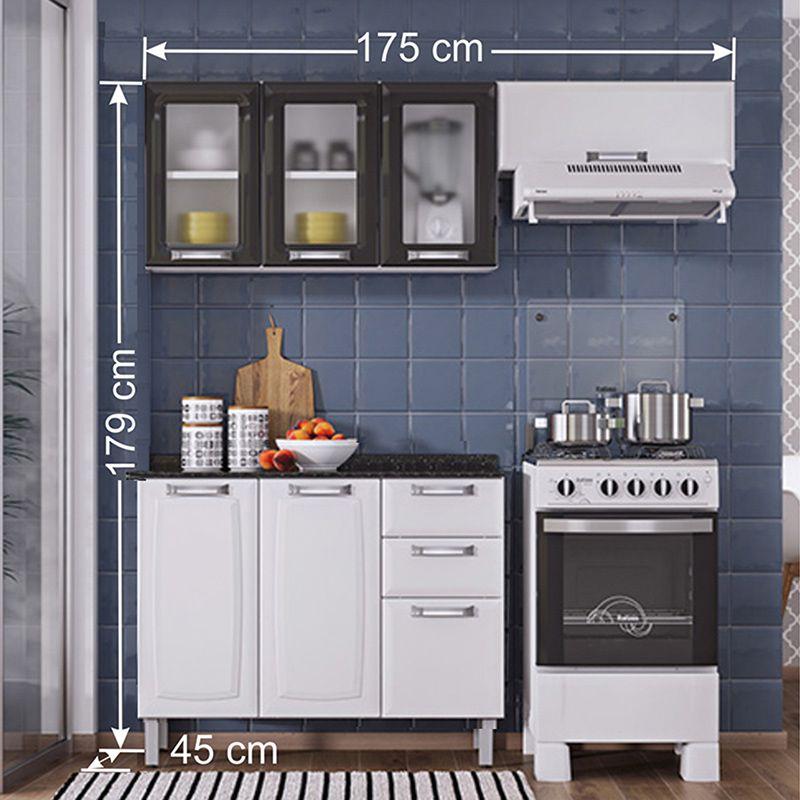 Cozinha Compacta Itatiaia Luce 03 peças 3 Vidros