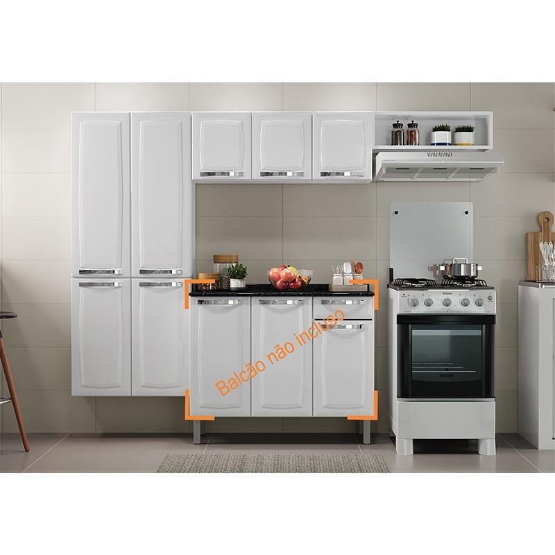 Cozinha Compacta Itatiaia Rose 03 Peças Branca