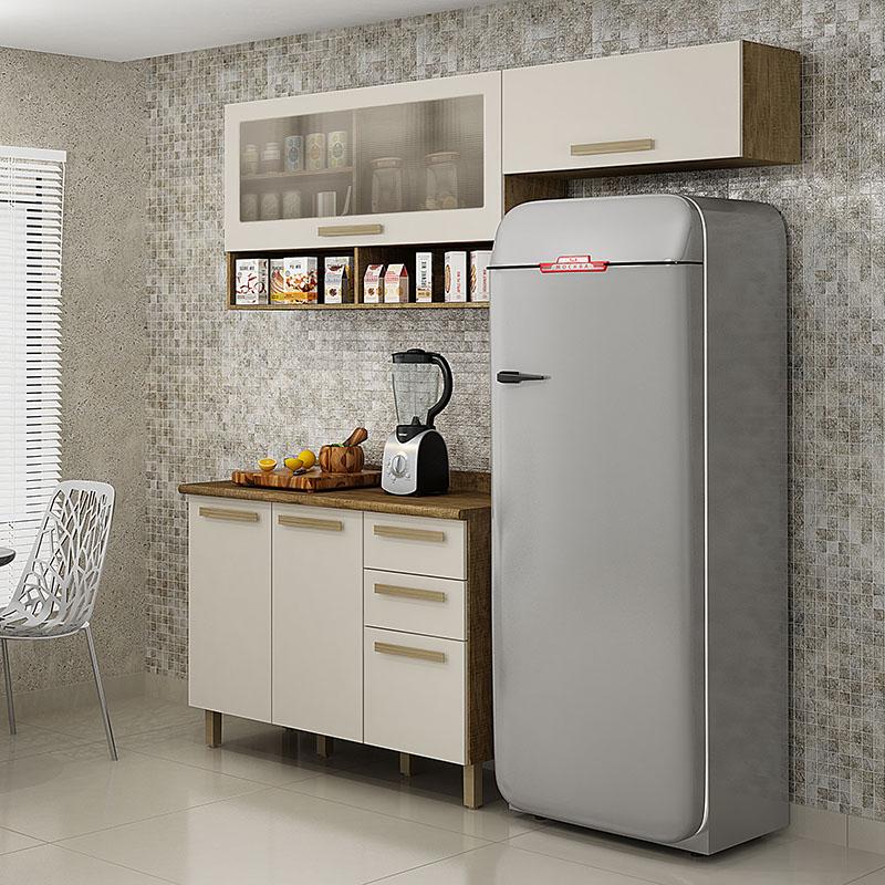 Cozinha Compacta Pérola 03 Peças Valdemóveis
