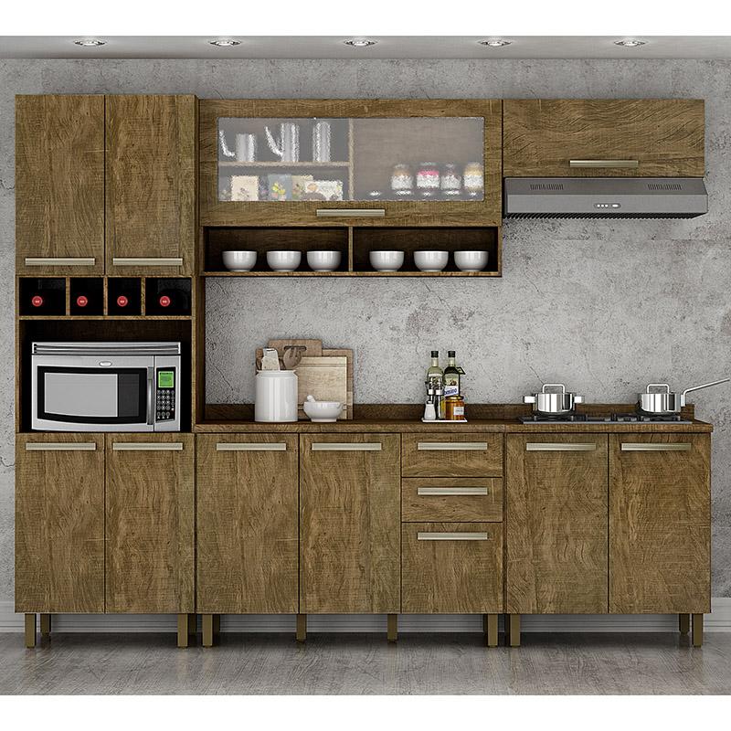 Cozinha Completa Pérola Com Balcão Para Cooktop 05 Peças Valdemóveis
