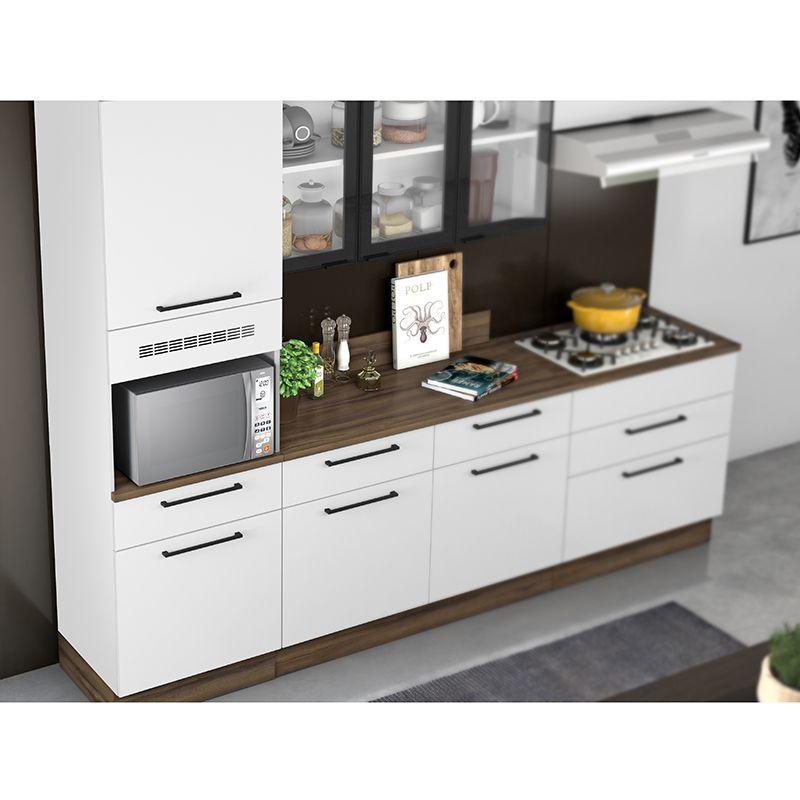 Cozinha Itatiaia Exclusive 5 peças 3V com balcão para cooktop 5B Branco Matte
