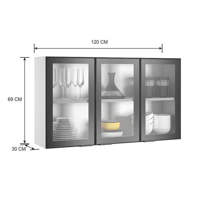 Cozinha Itatiaia Exclusive 5 peças 3V com balcão para cooktop 5b Preto Matte