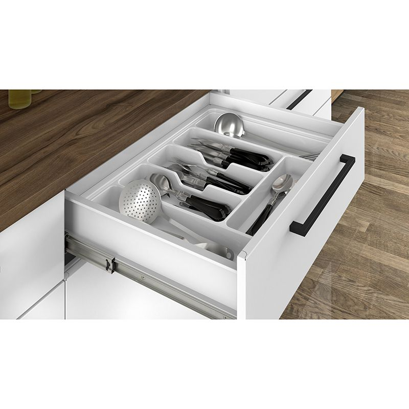 Cozinha Itatiaia Exclusive 5 peças com balcão para cooktop 5B Branco Matte