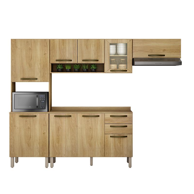 Cozinha Valência Com Nicho E 01 Porta Reflecta 04 Peças Sallêto