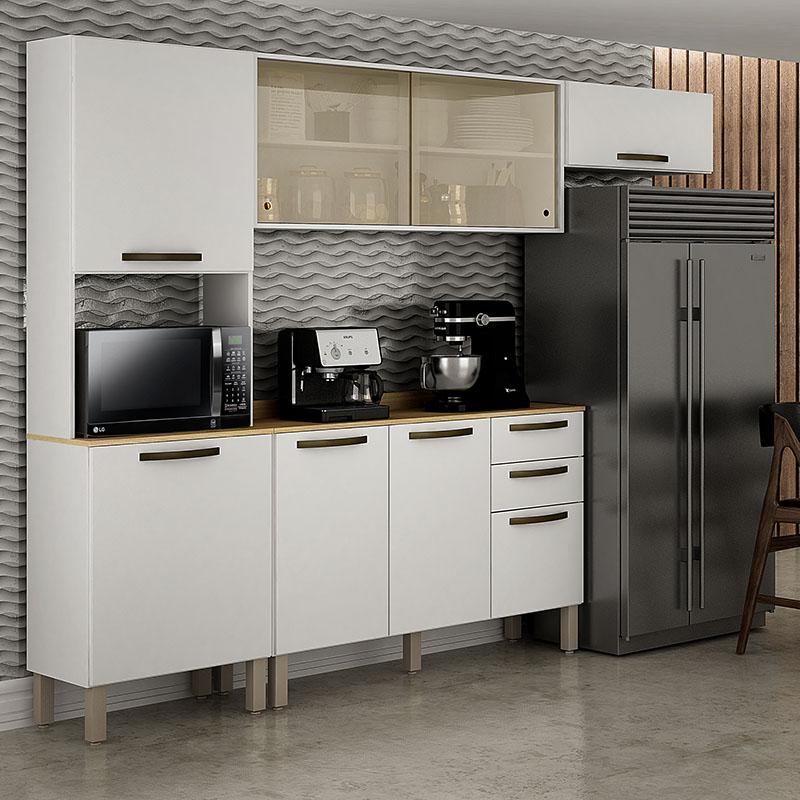 Cozinha Valência Com Nicho E Porta Reflecta 04 Peças Sallêto