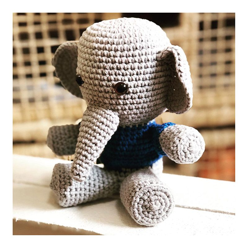 Elefantinho Amigurumi