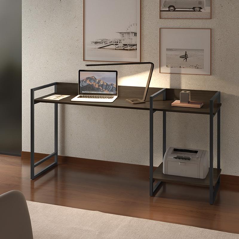 Escrivaninha Industrial Com Prateleira Mais Decor