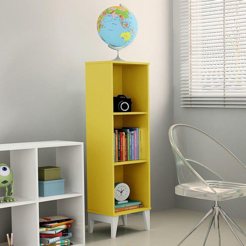 Estante Livreiro com 3 nichos Twister - Amarelo