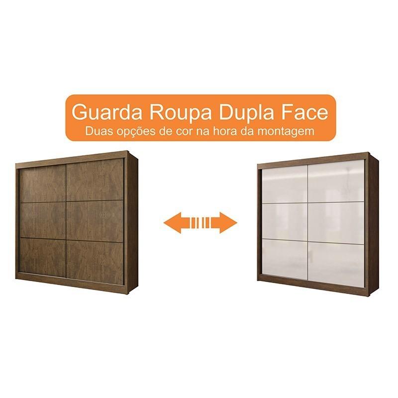 Guarda Roupa Casal 02 Portas De Correr 06 Gavetas Cancun D'Doro