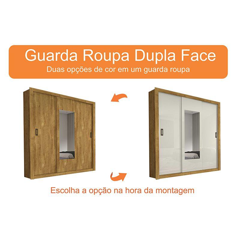 Guarda Roupa Casal 03 Portas 04 Gavetas com Espelho Malibu Tcil
