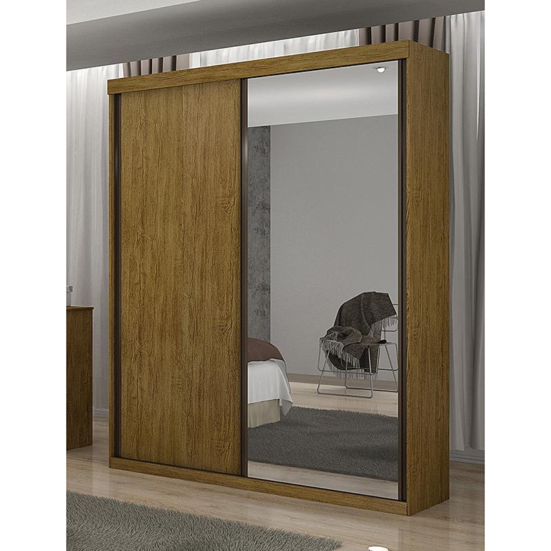 Guarda Roupa Com Espelho 02 Portas De Correr Búzios Valverde