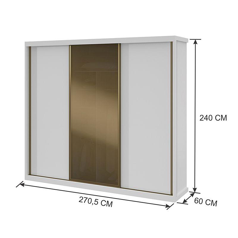 Guarda Roupa Maggiore Glass 03 Portas
