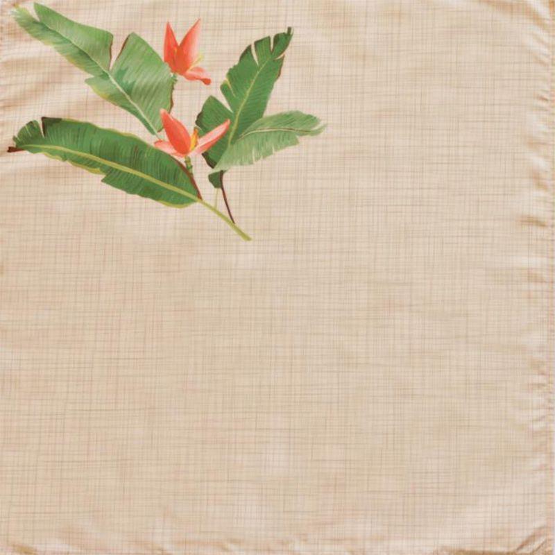 Guardanapo em Tecido Folhas e Flores