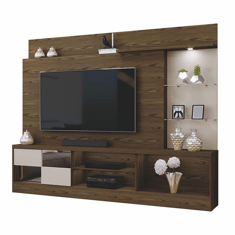 Home Panamá Para TV Até 55 Polegadas 02 Prateleiras De Vidro