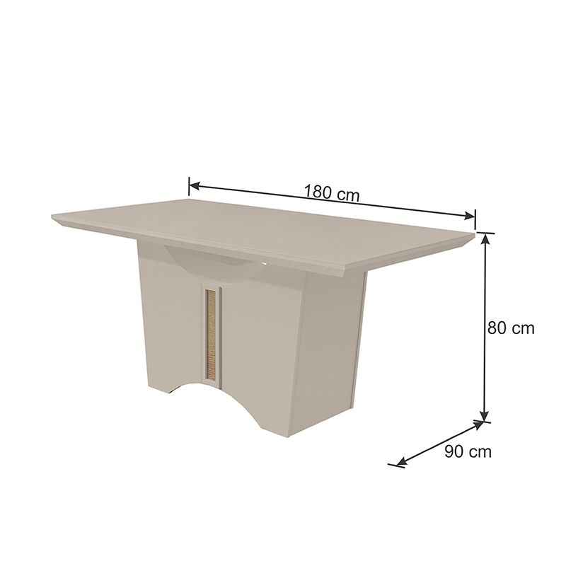 Mesa de Jantar Rock 180 cm Off White