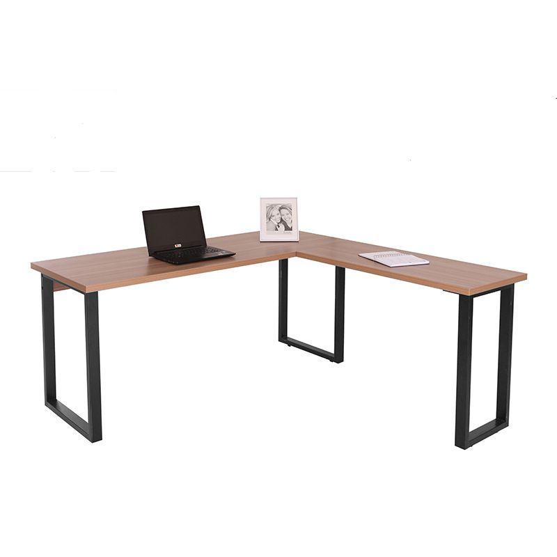 Mesa para escritório em L 160 x 160 cm com pés em aço Safira