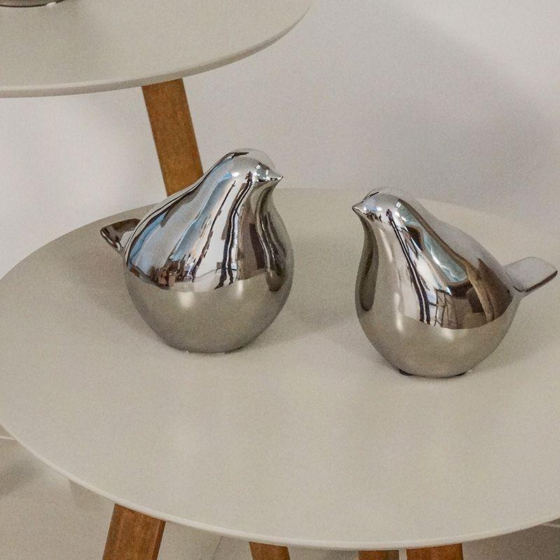 O Passarinho Decorativo Médio Metalizado