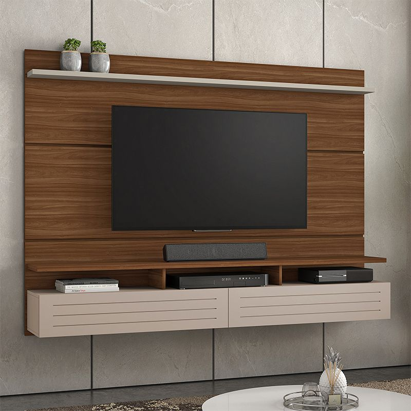 Painel Para Tv Até 60 Polegadas 02 Portas Basculantes Tulha JCM