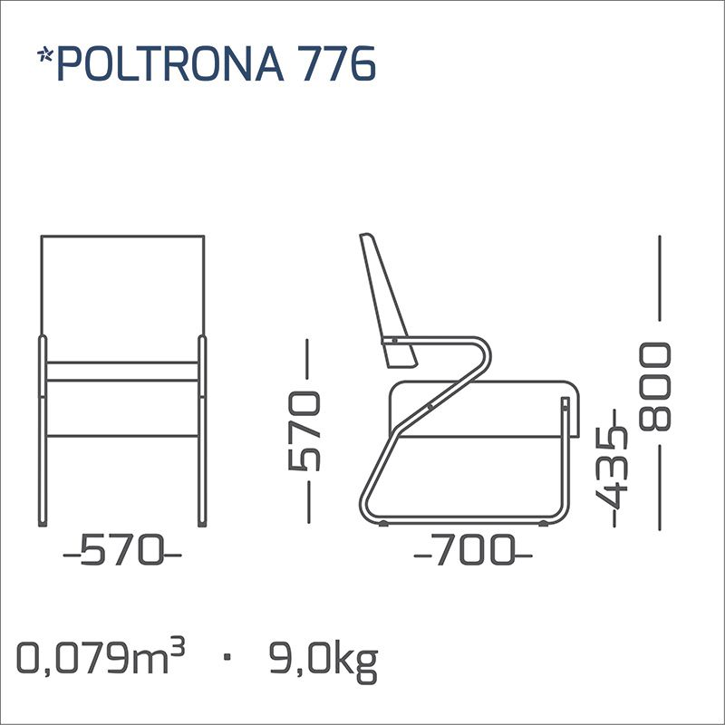 Poltrona Decorativa Lázuli 01 lugar Modelo 776