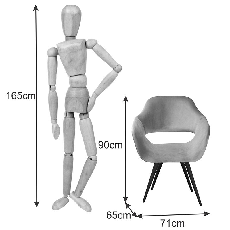 Poltrona Decorativa Zara com pé palito Bella Decor