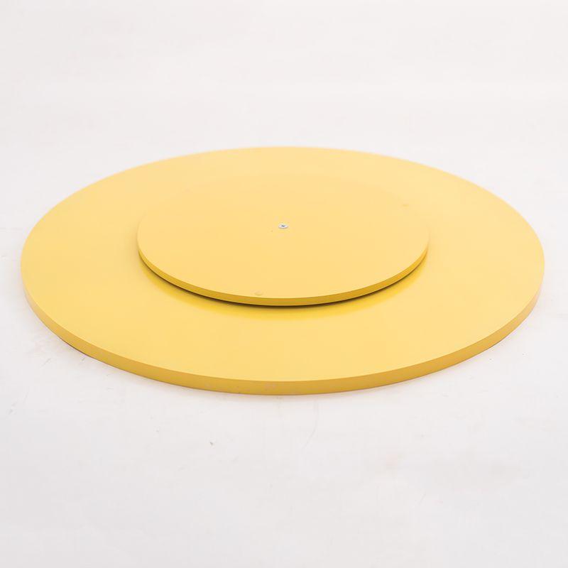 Prato Giratório de Mesa com Lâmina de Madeira Amarelo
