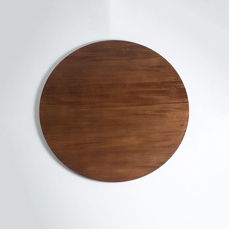 Prato Giratório de Mesa Lâmina de Madeira Castanho 50 cm