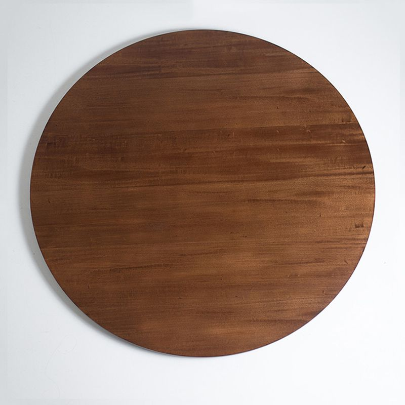 Prato Giratório de Mesa Lâmina de Madeira Castanho 80 cm