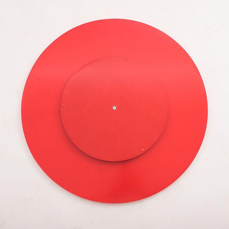 Prato Giratório de Mesa com Lâmina de Madeira Vermelho 50 cm