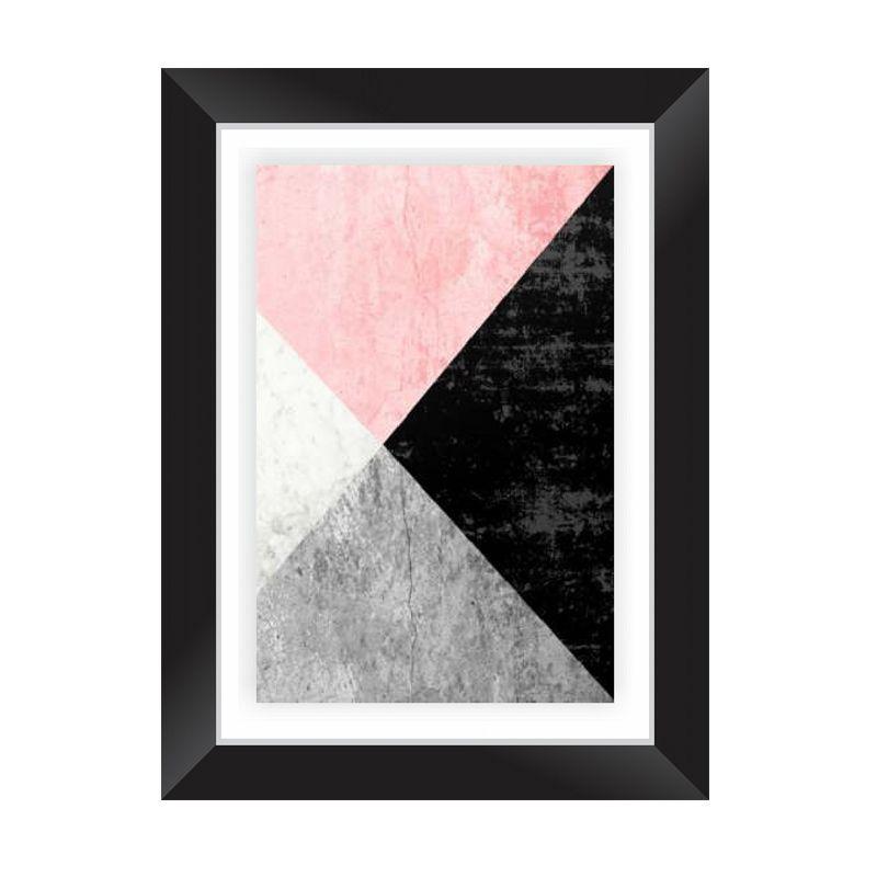 Quadro Decorativo com Moldura em Madeira Maciça e Vidro Geométrico Colors AB004