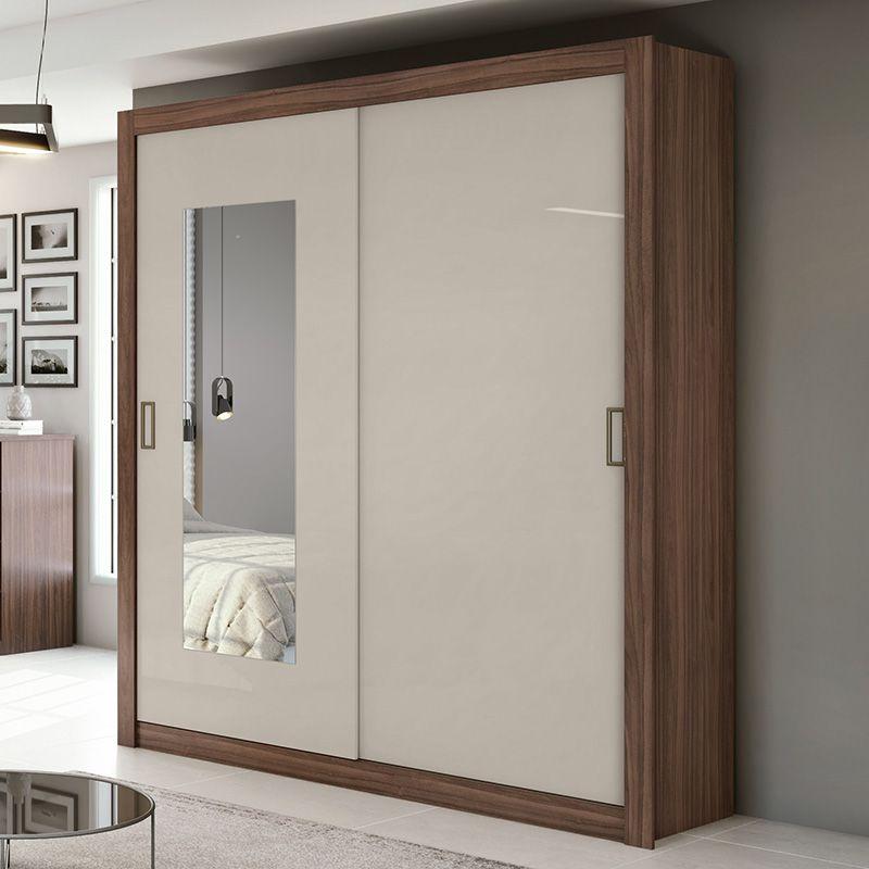 Quarto Casal Com Espelho 02 Portas Apoena Plus Lopas
