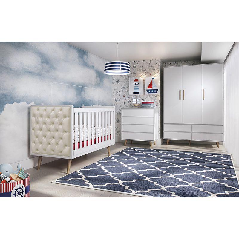 Quarto De Bebê 03 Portas Lorena Carolina Baby