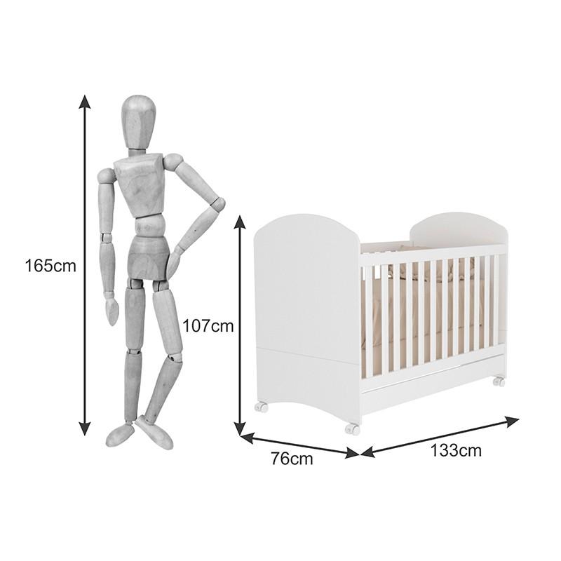 Quarto De Bebê Capricho 04 Portas Com Pés Tcil 05 Peças