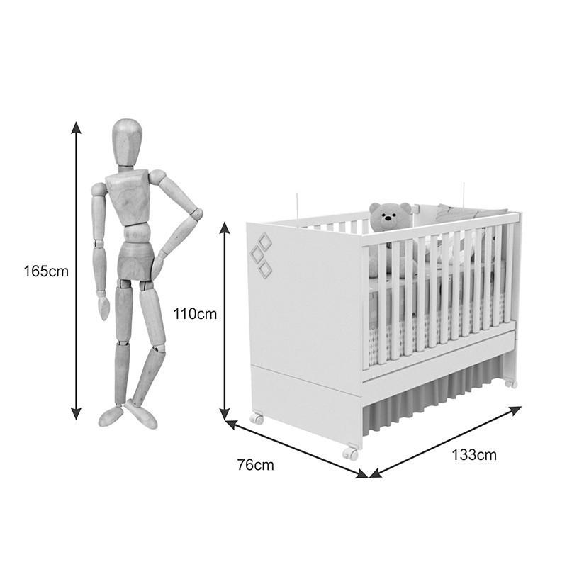 Quarto De Bebê Doçura 02 Portas Tcil