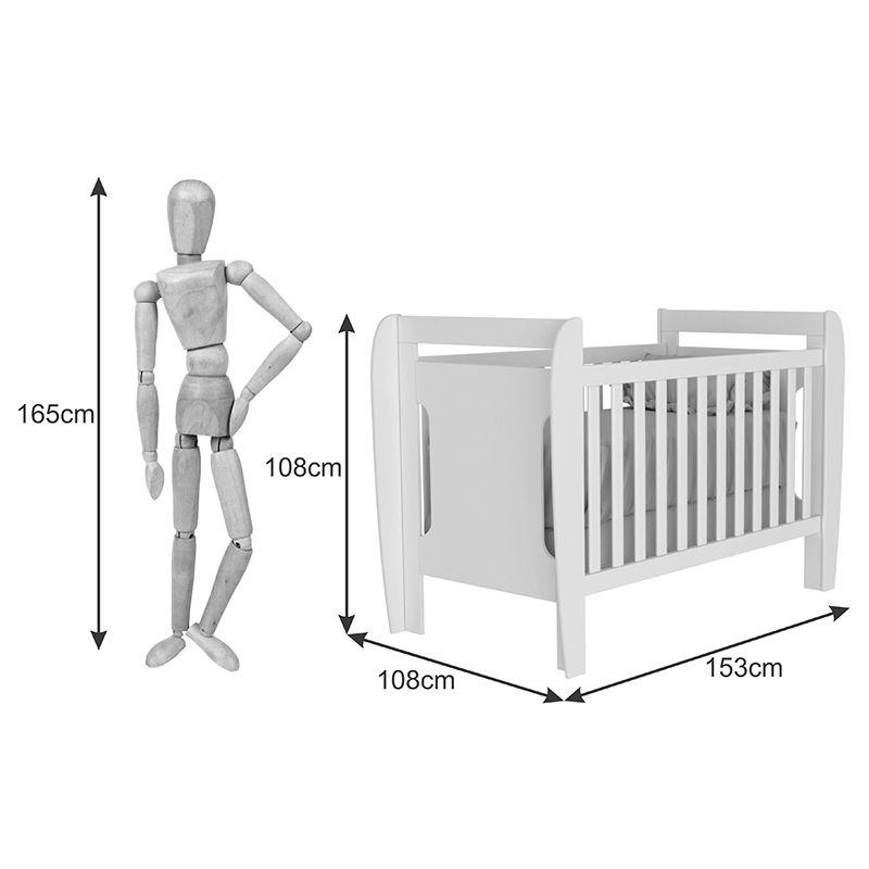 Quarto de Bebê Fratello 04 Portas com Pés Tcil