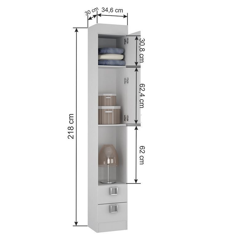 Quarto de solteiro Modulado 7 peças Palmeira Buri 15