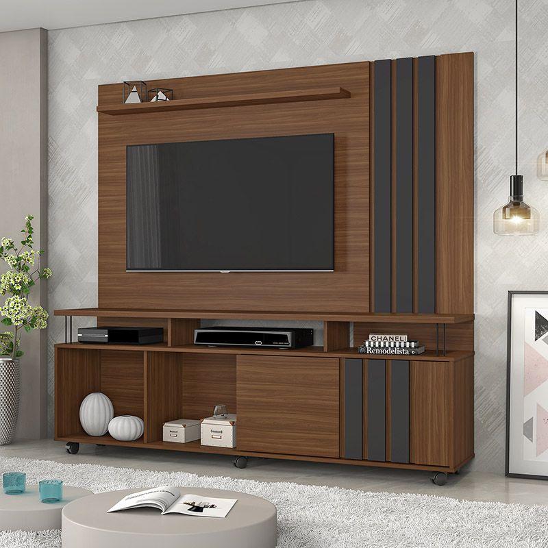 Rack Com Painel Para Tv Até 75 Polegadas Atraente JCM