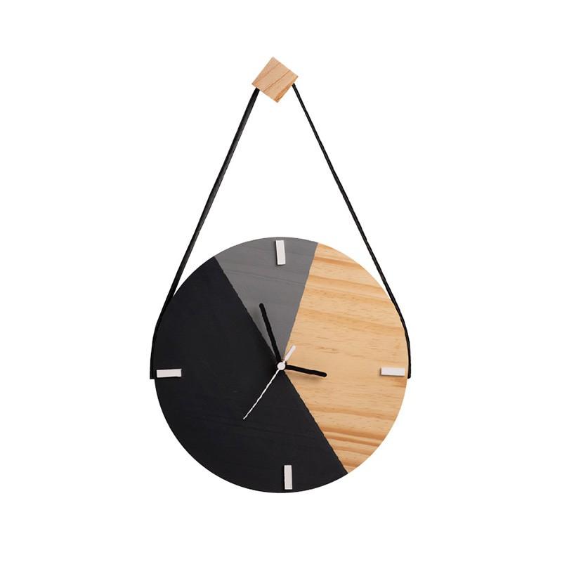 Relógio De Parede Minimalista Adnet Com Alça e Pendurador - Cinza