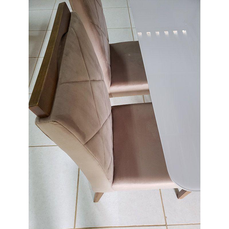 Sala De Jantar Milano Mesa 120 Cm 04 Cadeiras Lisboa
