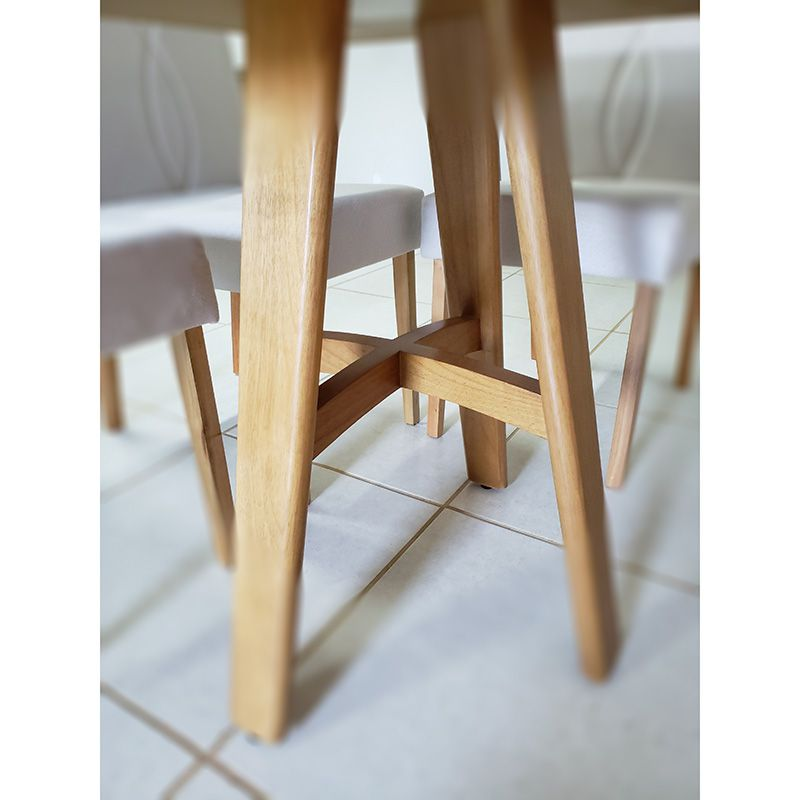 Sala de Jantar Snow Mesa 120 cm 04 Cadeiras Luna